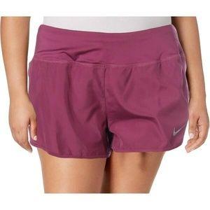 Purple/pink nike running shorts